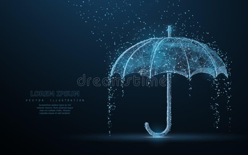 Skydd för vektorparaplyregn royaltyfri fotografi