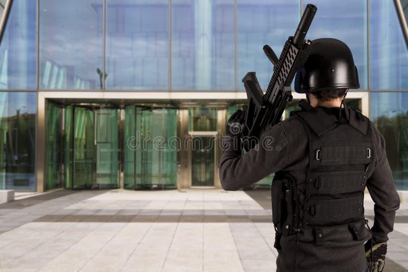 skydd för försvar för affärsföretag royaltyfria bilder