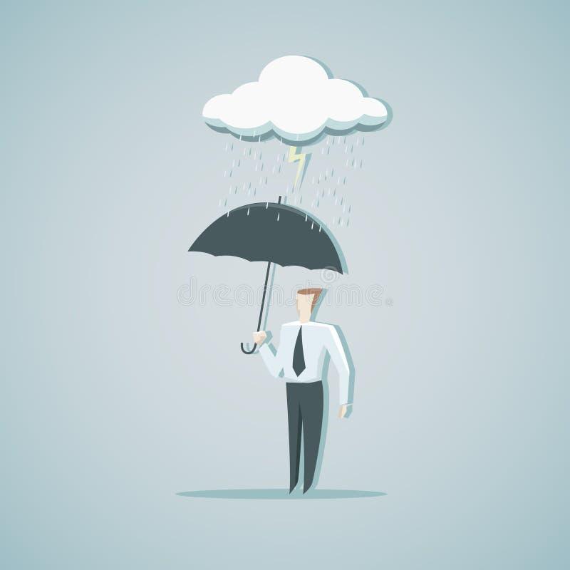 Skydd från ekonomisk kris stock illustrationer
