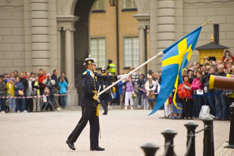 skydd kungliga sweden royaltyfri fotografi