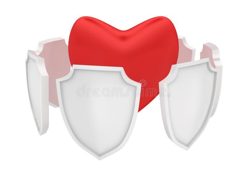 Skydda din hjärta royaltyfri illustrationer