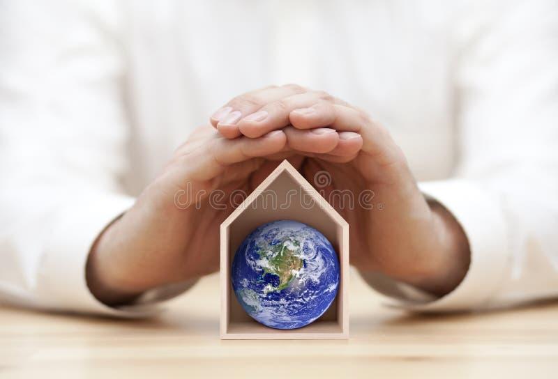 Skydda jorden, vårt hem arkivfoton