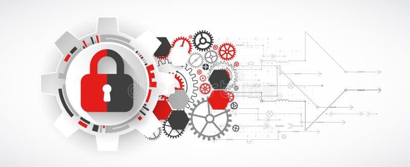 Skydda mekanismen, systemavskildhet stock illustrationer