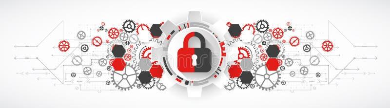 Skydda mekanismen, systemavskildhet royaltyfri illustrationer