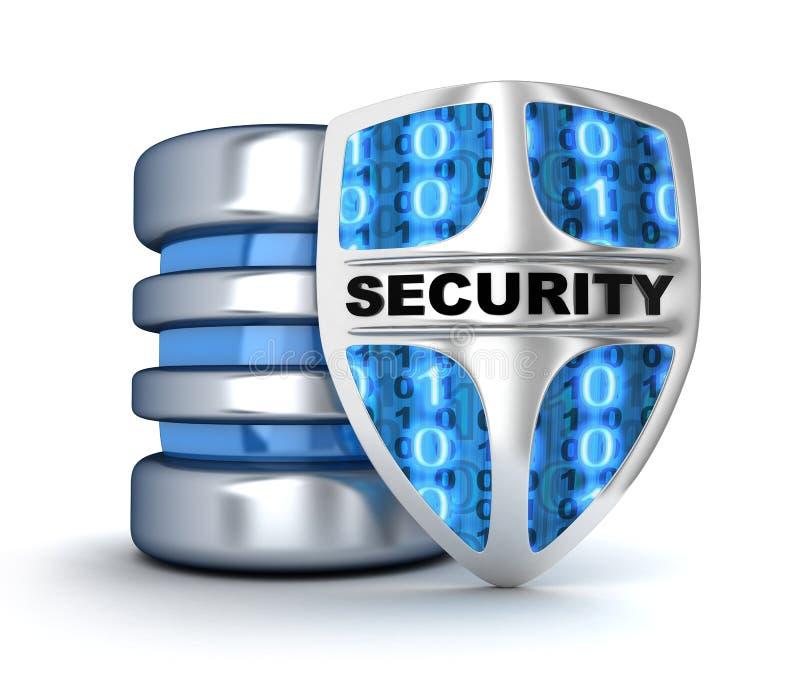 Skydda och databas vektor illustrationer