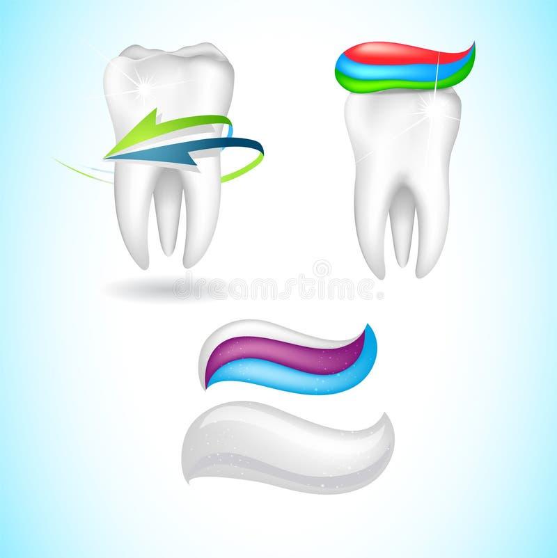 Skyddad symbol för tand 3d vektor illustrationer