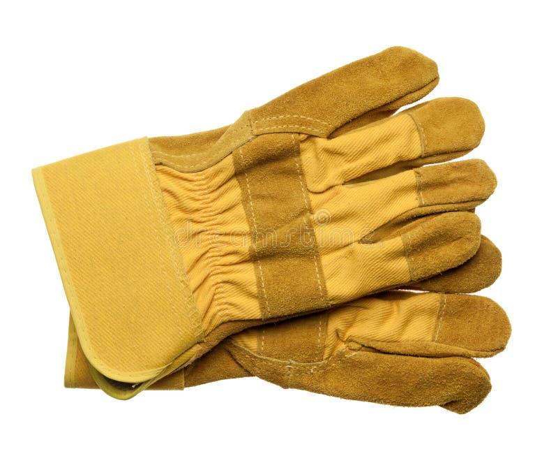 skyddande handskar arkivfoton
