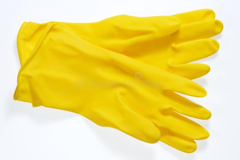 Skyddande handskar arkivbilder