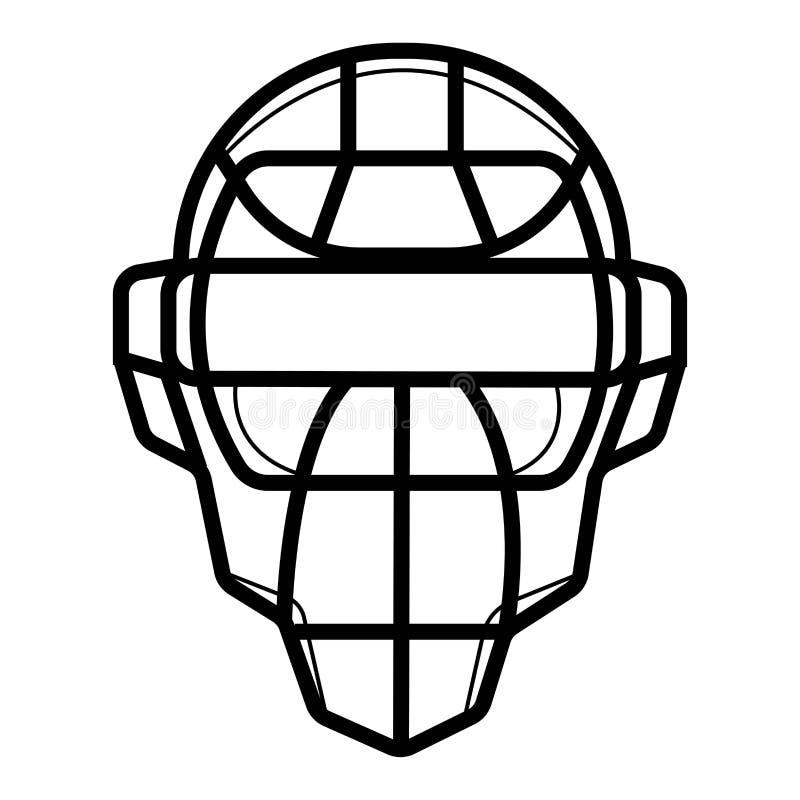 Skyddande maskering för baseball royaltyfri illustrationer