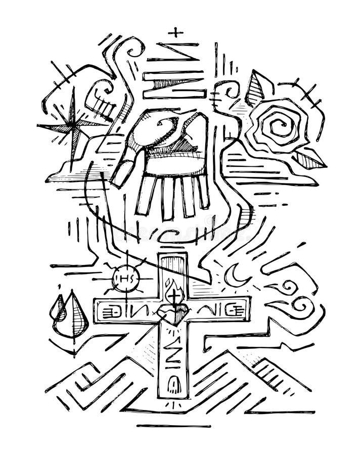 Skyddsängel royaltyfri illustrationer