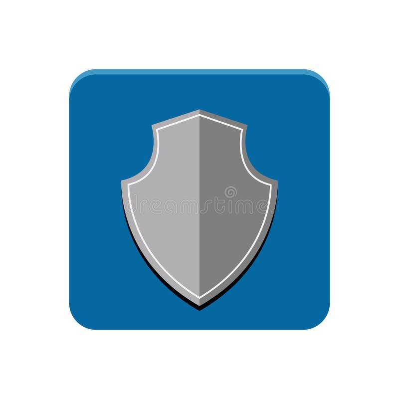 Skyddsapp-knapp stock illustrationer