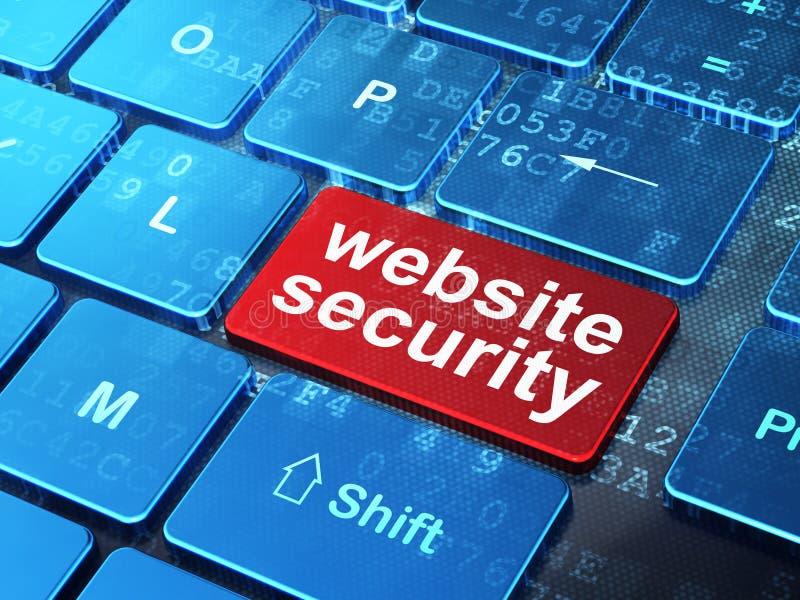 Skyddsbegrepp: Websitesäkerhet på datoren vektor illustrationer