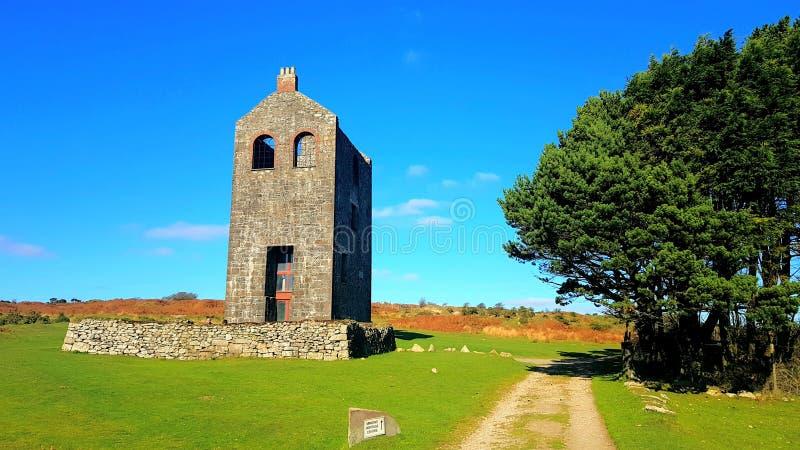 Skyddslingarvmitt Projekt Cornwall för arv för Caradon kulleområde royaltyfri fotografi