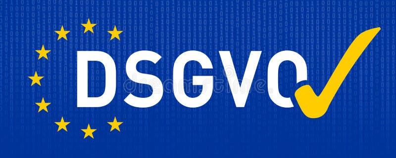Skyddsreglering GDPR DSGVO för general data stock illustrationer