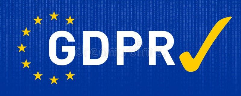 Skyddsreglering GDPR DSGVO för general data vektor illustrationer