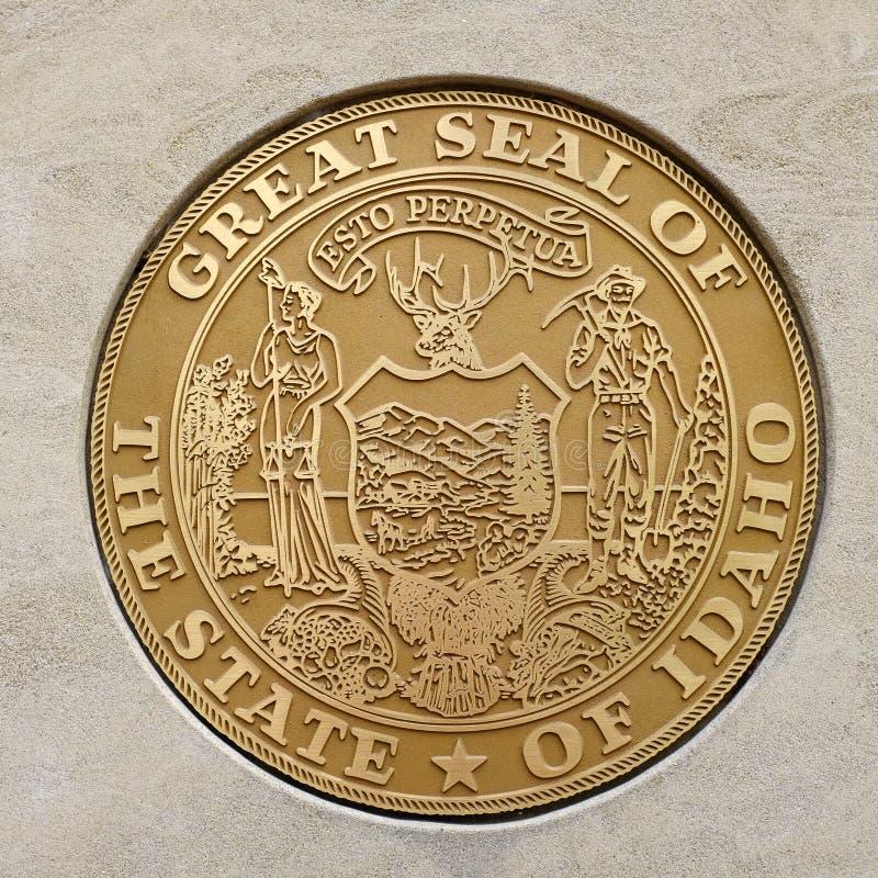 Skyddsremsa av den stora staten av Idaho royaltyfri fotografi