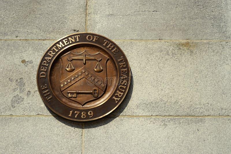 Skyddsremsa av Förenta staternakassaavdelningen arkivbild