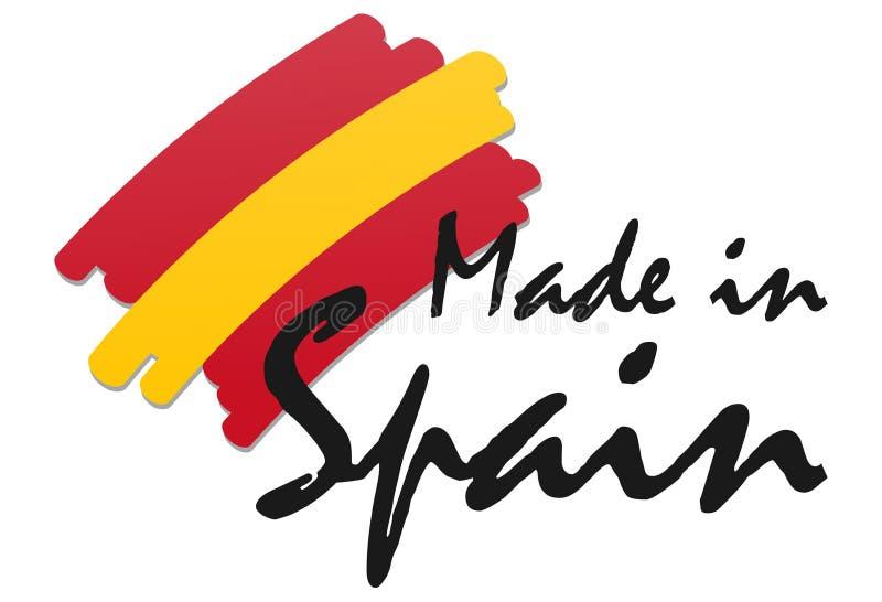 skyddsremsa av kvalitet som göras i Spanien vektor illustrationer