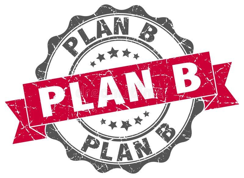 skyddsremsa för plan b stämpel stock illustrationer