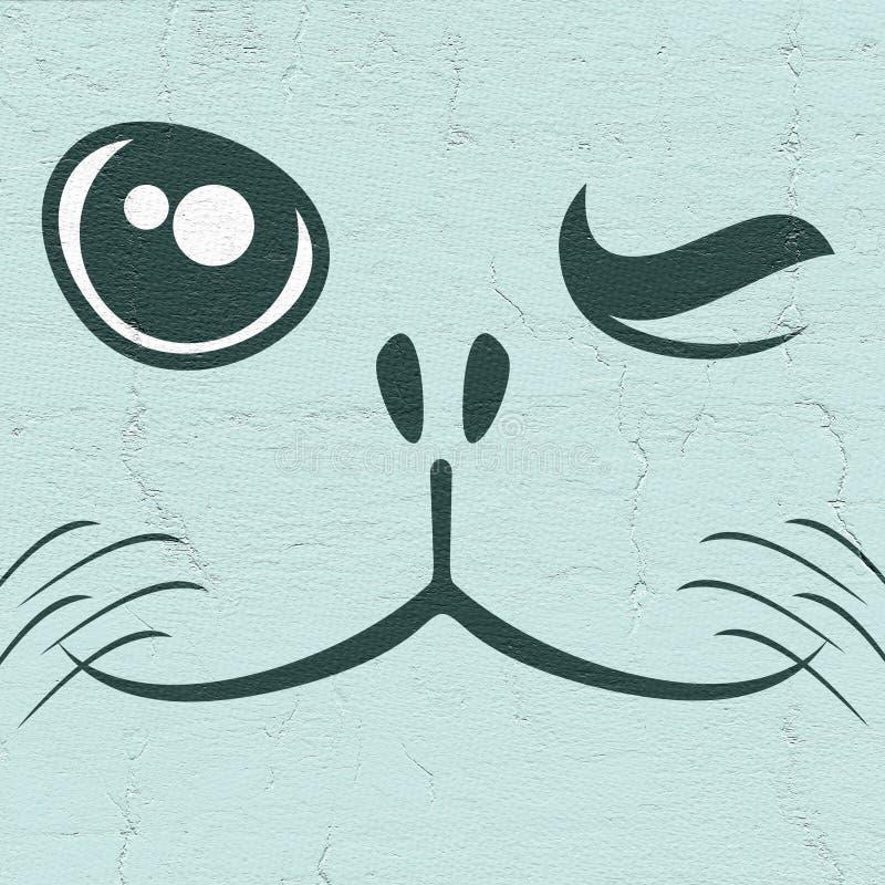 Skyddsremsaframsida royaltyfri illustrationer