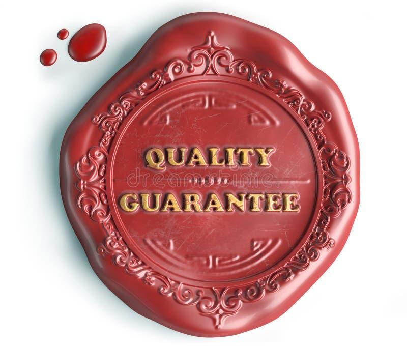 Skyddsremsavax för kvalitets- garanti royaltyfri illustrationer