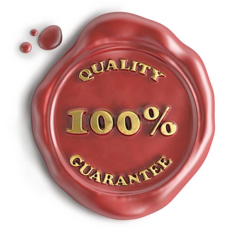 Skyddsremsavax för kvalitets- garanti stock illustrationer