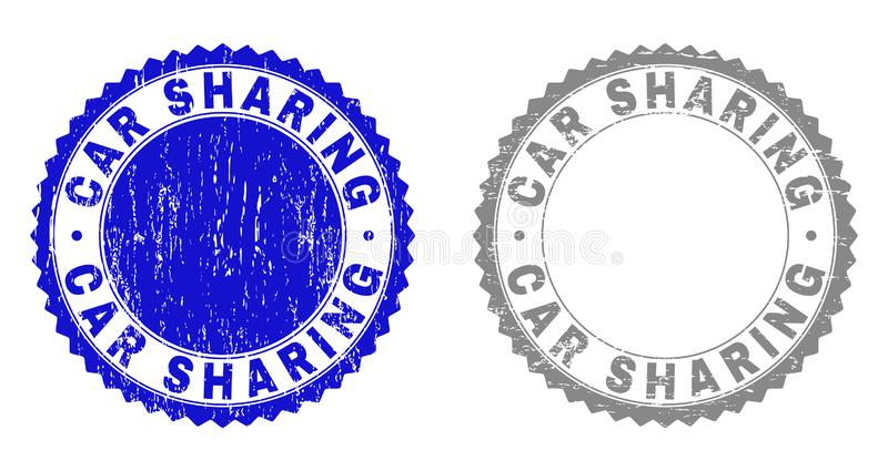 Skyddsremsor för stämpel för DELA för GrungeBIL skrapade royaltyfri illustrationer