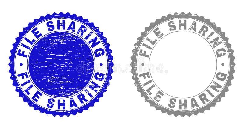Skyddsremsor för stämpel för DELA för GrungeMAPP skrapade stock illustrationer