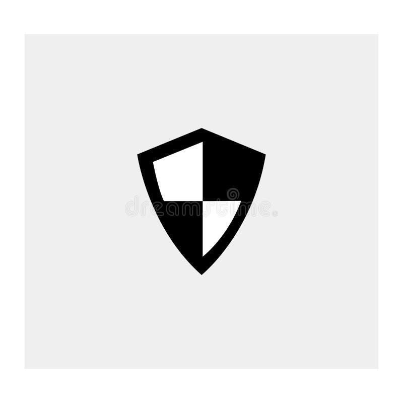 Skyddssymbol Vit bakgrund också vektor för coreldrawillustration stock illustrationer