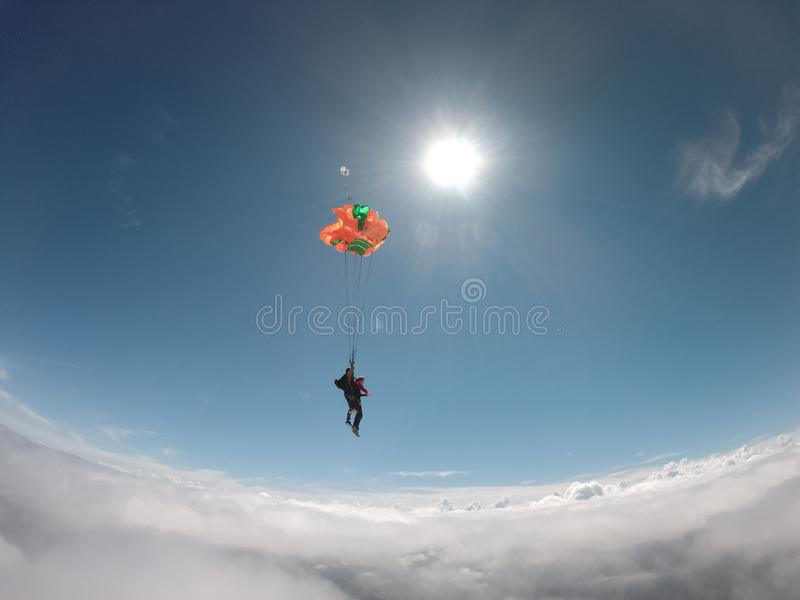 skydive fotografia de stock