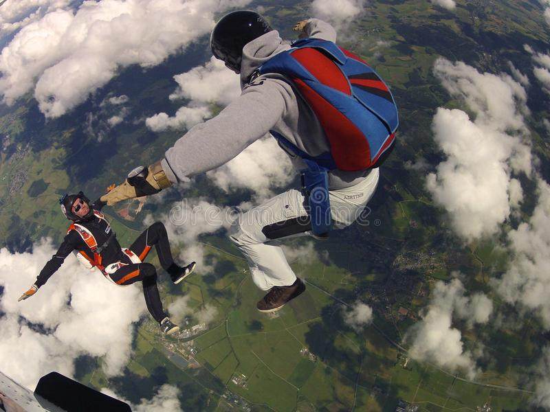 Skydive 2 imagem de stock