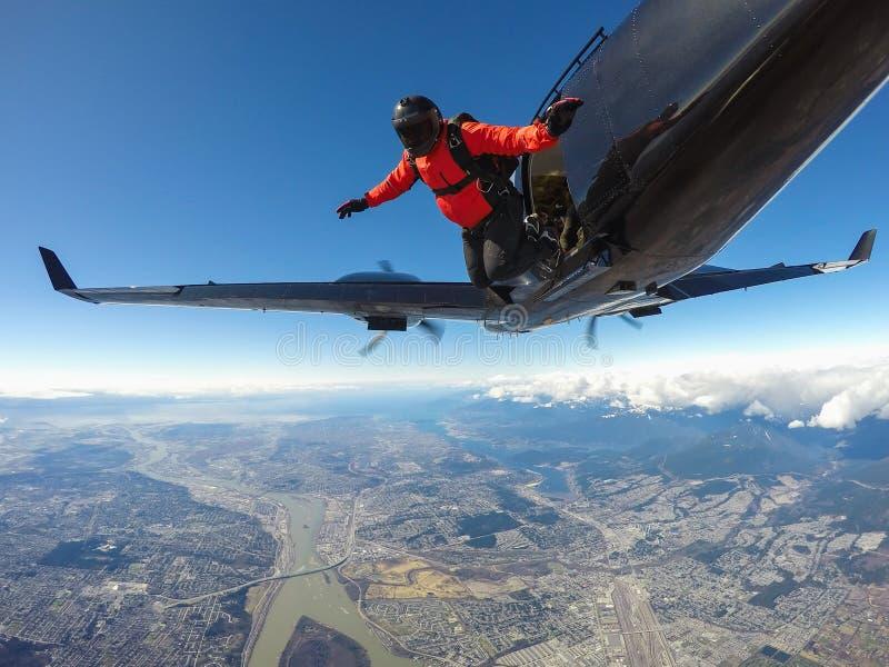 skydive imagens de stock
