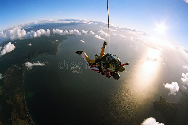 Skydive em tandem fotos de stock royalty free