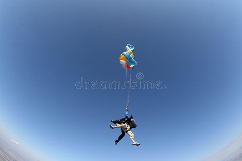Skydive Gegaan Verkeerd stock fotografie