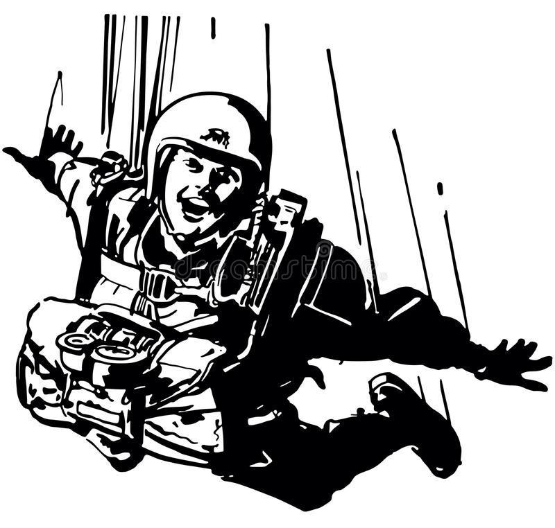 skydiver illustration stock