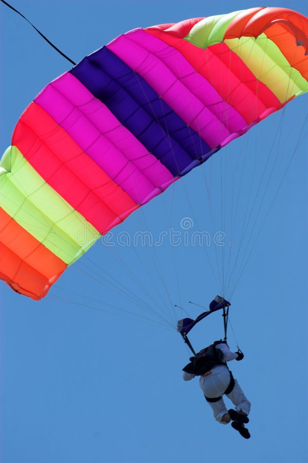 Skydiver stock foto's