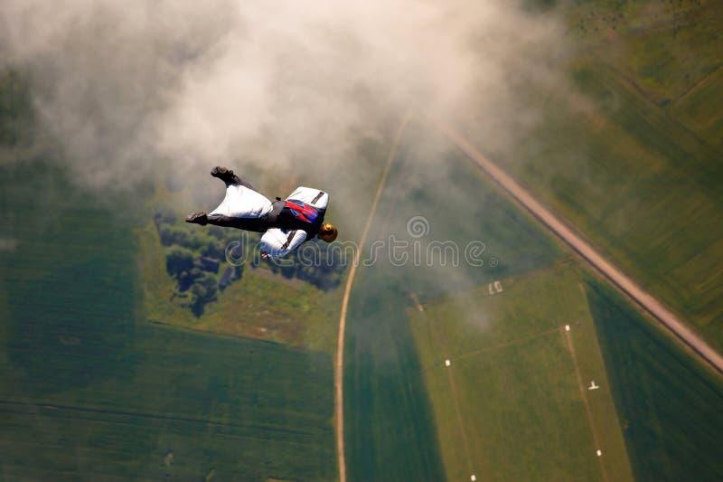 Skydiver fotografia stock