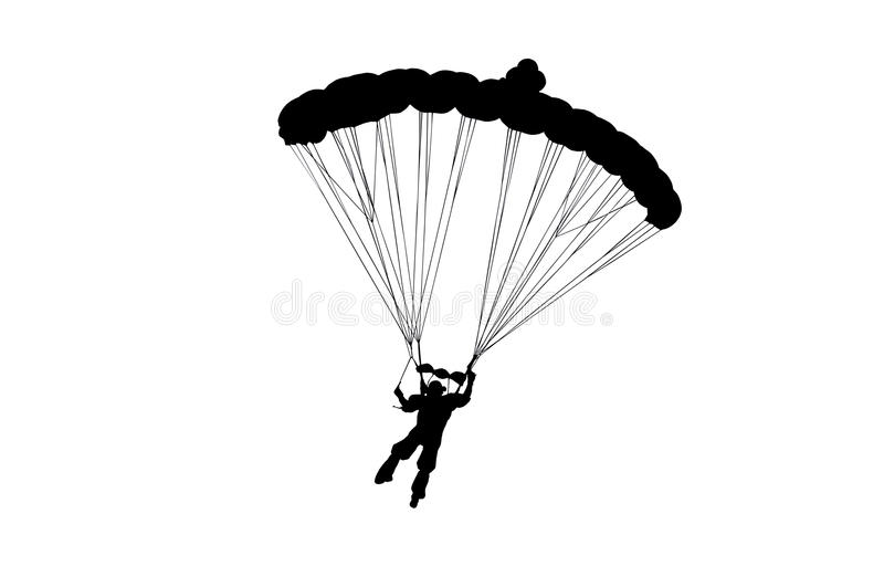 Skydiver royaltyfri illustrationer