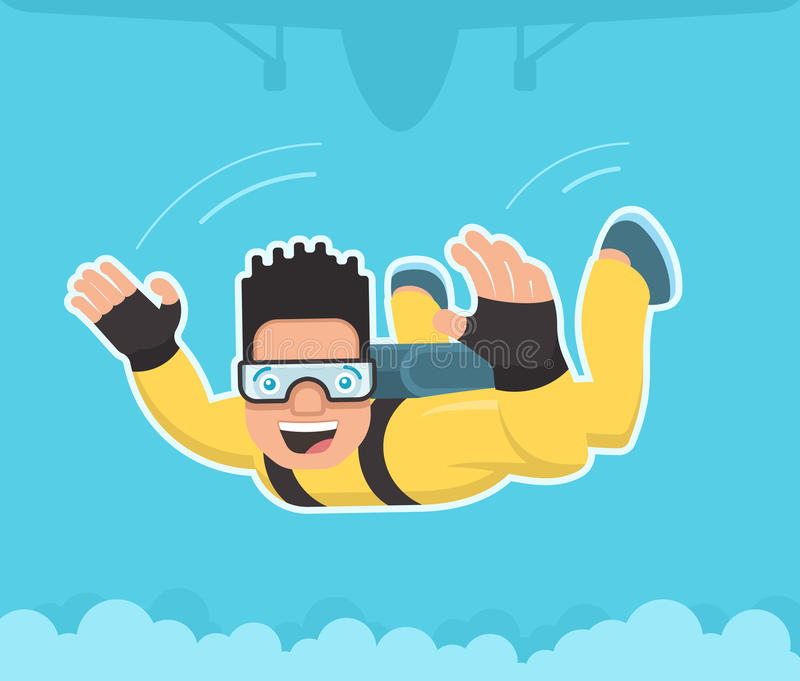 skydiver stock illustrationer