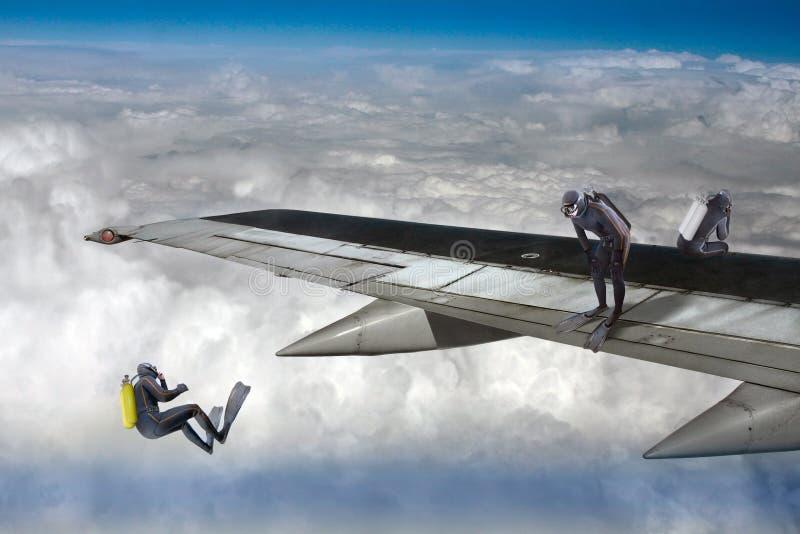 skydiver imagens de stock royalty free
