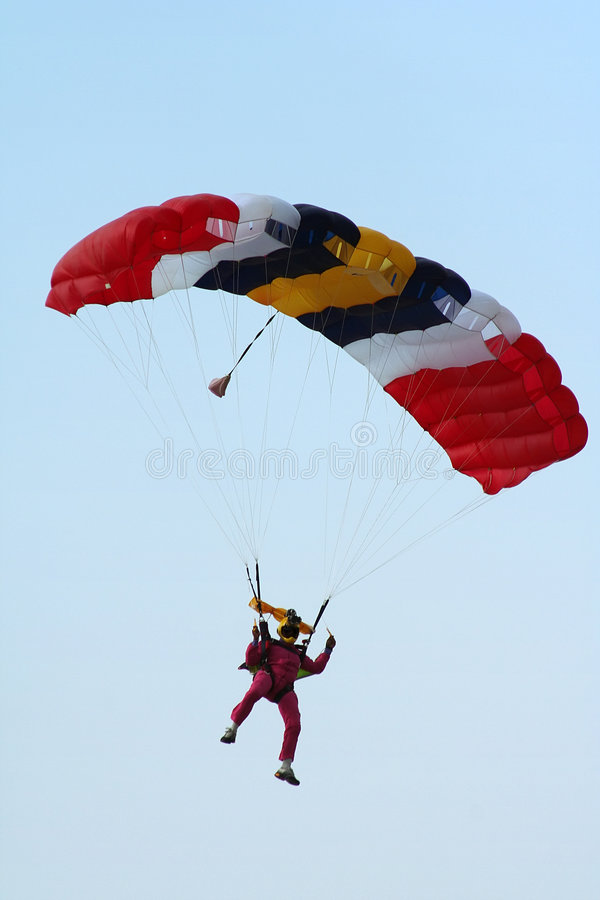 Skydiver stock images