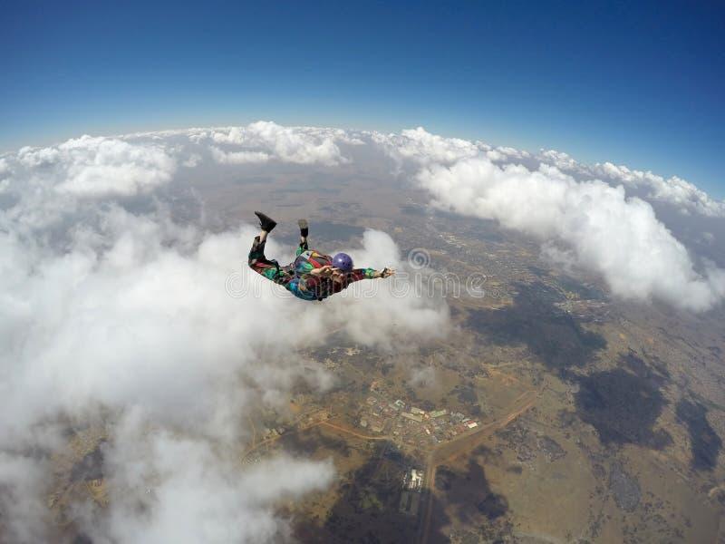 Skydiver in actie royalty-vrije stock foto