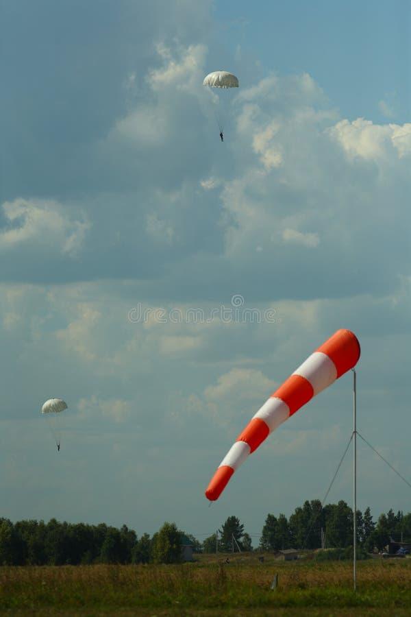 Skydiver in de hemel royalty-vrije stock afbeelding