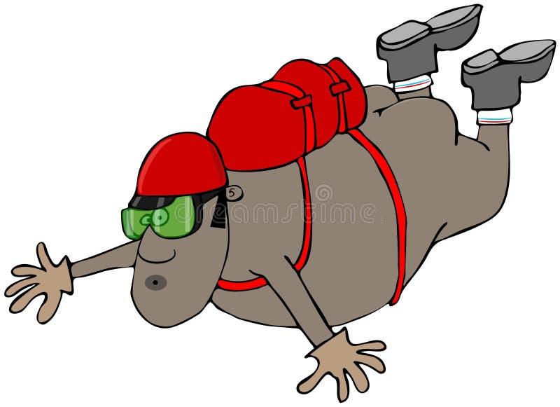Skydiver despido étnico ilustração stock