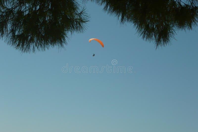 Skydiver nel cielo fotografie stock libere da diritti