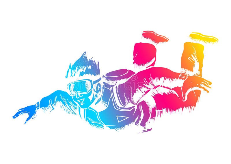 skydiver skydiving иллюстрация штока