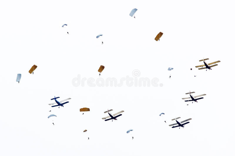 Skydivers. immagine stock libera da diritti