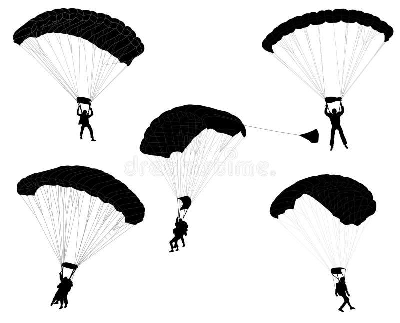 skydivers illustration de vecteur