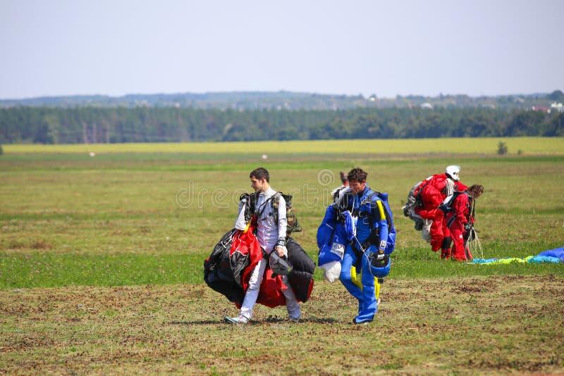 skydivers fotografía de archivo libre de regalías