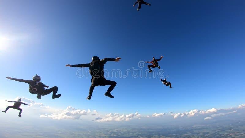 Skydivers, die Spaß haben lizenzfreie stockfotografie